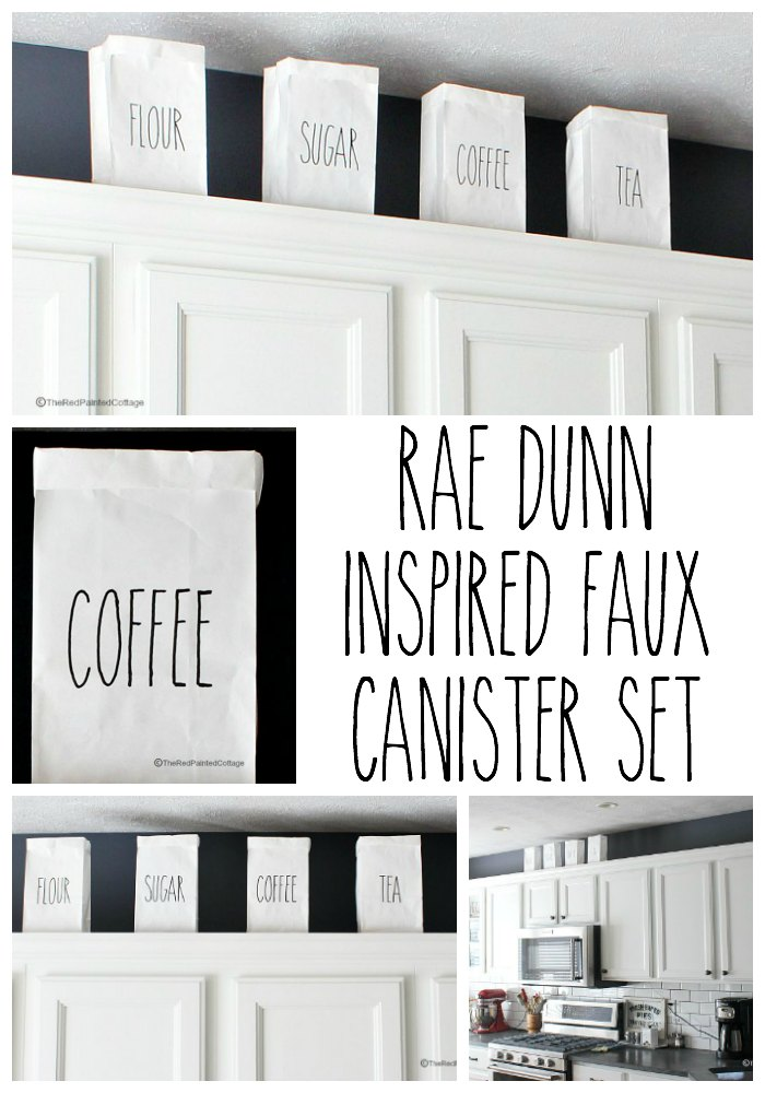 Rae Dunn Inspired Faux Canister Set