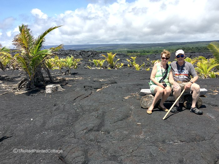 Lava field and black sand