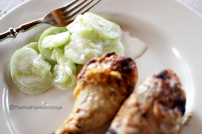 Hungarian Cucumbers In Sour Cream