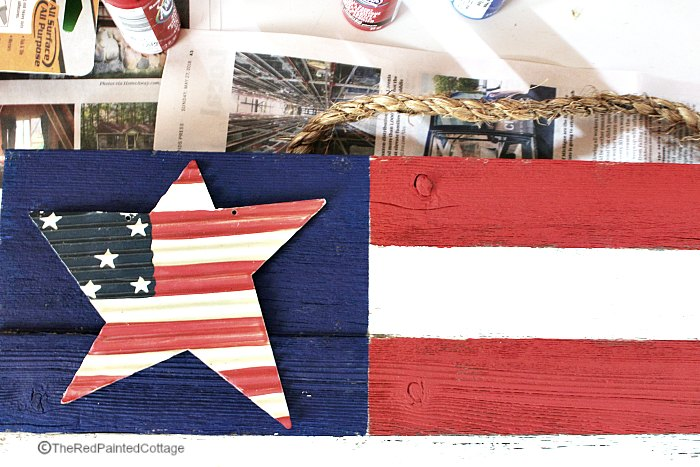 DIY Rustic Flag With Old Wood