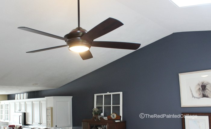 A ceiling fan for summers end the red painted cottage a ceiling fan for summers end aloadofball Image collections