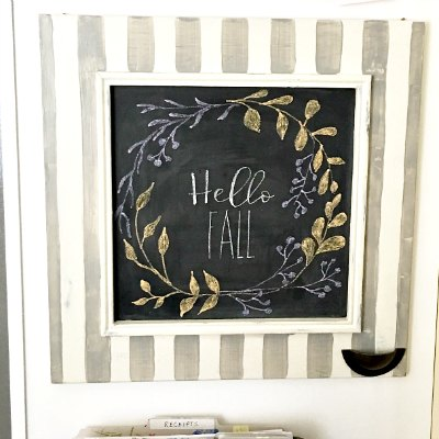 Easy DIY Lettering For A Chalkboard