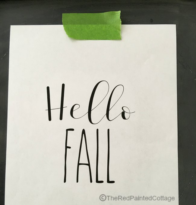 Easy Fall DIY For A Chalkboard