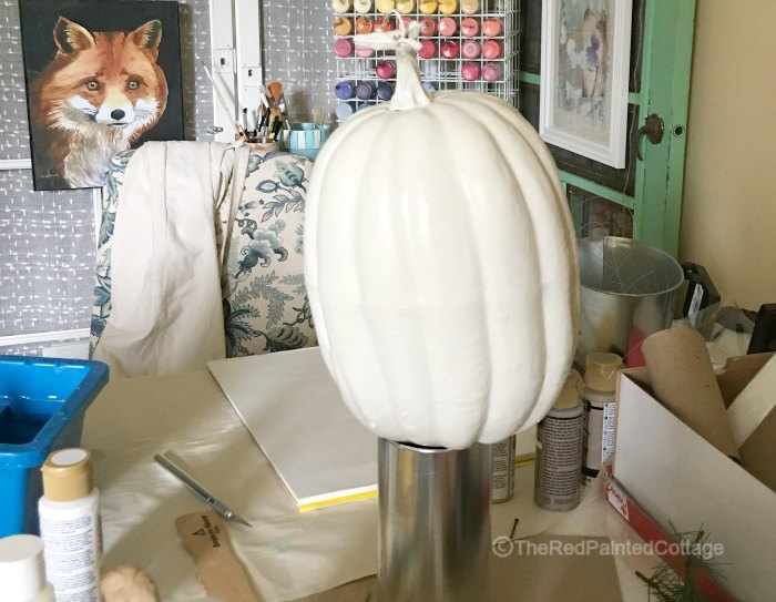 DIY Painted Buffalo Check Pumpkin