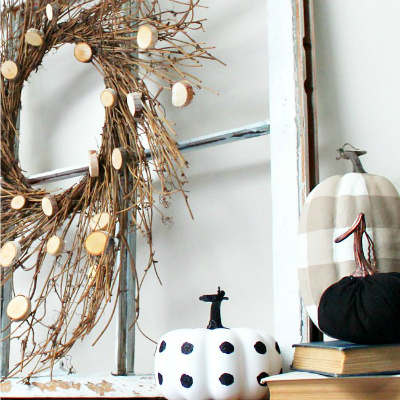A Great Inspiration For Our Fall Mantel