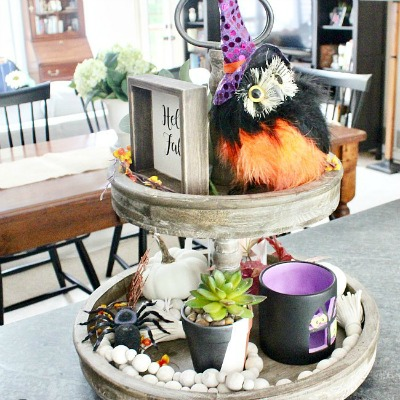 An October Tiered Tray, Perfect For Halloween
