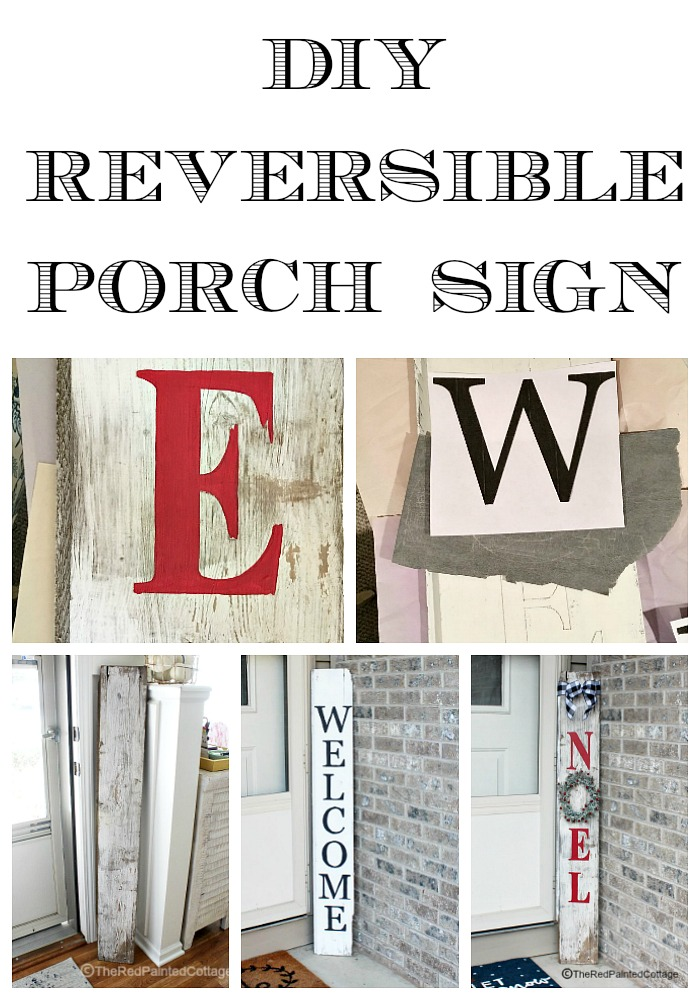 DIY Reversible Porch Sign