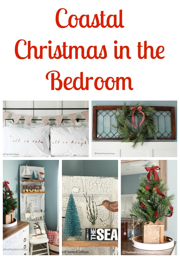 Coastal Christmas in the Bedroom