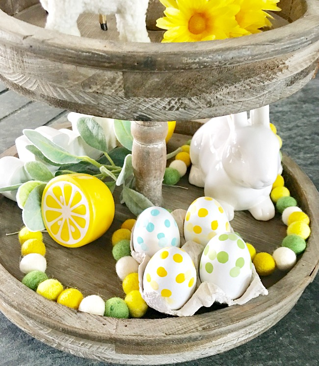 An Easy Easter Tiered Tray