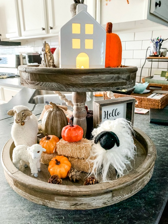 Our Tiered Tray For Fall