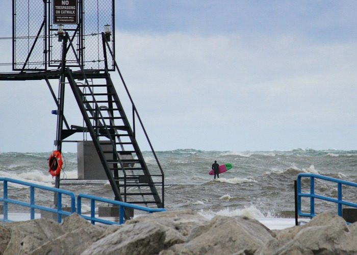 High Winds And Waves On Lake Michigan