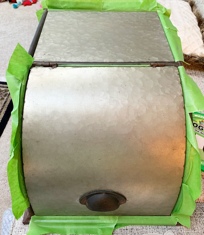 Revising A Galvanized Bread Box