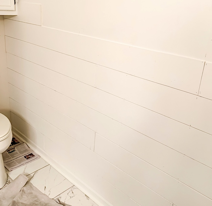 Let's Put Faux Shiplap On Your Bathroom Wall